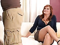Plumper Cougar Likes A Rough Tear up In Her Cock-squeezing Rump And Mouth-watering Perky Fuckbox
