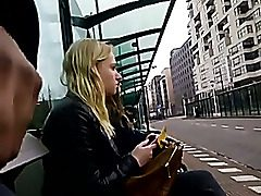 Flashing my penis in public bus stop
