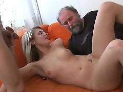 Youthfull girl gets wicked and luvs sex with old plower