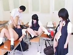 Hypnotized Chinese Schoolgirls Get Cum!