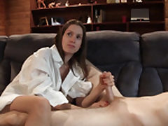 Youthful ultra-cute lady plays with his ultra-cute sausage