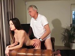Old and Young Porn - Babysitter pussy fucked by old guy