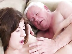 Hardcore old youthfull sex with dirty grandpa