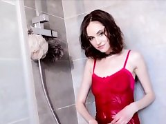 Girl Play With Herself in Bathroom