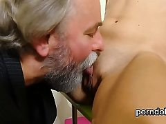 Natural bookworm is enticed and pummeled by senior teac49Lql