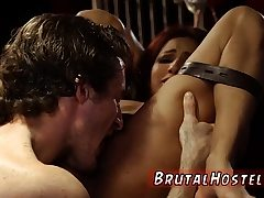 Brazilian raunchy and hard slave first-ever time Poor lil'