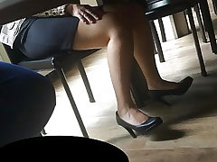 Candid feet and stilettos at work #21
