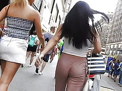 following Beautiful rump in sexy trousers  Voyeur Candid arse