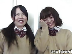 Student from Japan farting into gfs cute face