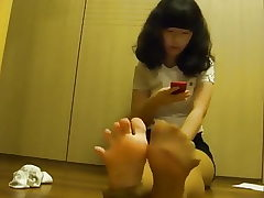 Korean schoolgirl feet