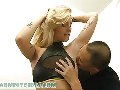 Tall Blonde Nubile Go-Go Dancer Underarm Worship with Victoria