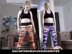 DaughterSwap - Two Nubiles Fucking Each Others Dads After Work