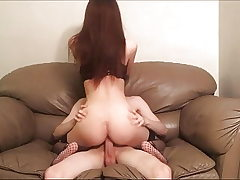 Pummeling Spanking Rough Sex on the Sofa