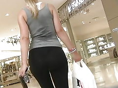 woman backside leggins