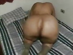 Granny uses her Monstrous Ass to dump a guys nut