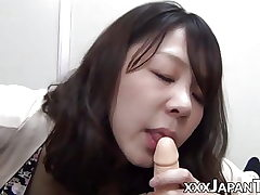 Nasty Japanese pussy toyed with in homemade POV