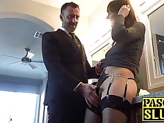 Subslut Sailor Luna fingered and spread with cock