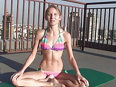 Naked Yoga Swimsuit Warmup Thailand with Elke