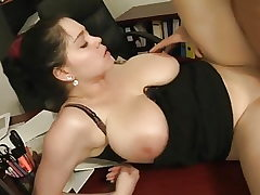 Outstanding Chubby Female with Meaty TITTIES Pleases Older Dude.