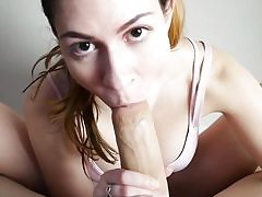 Feetjob pov bj in front of cam by a sexy babe