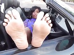 Ebony mature stunner in the van is ready to get drilled stiff