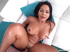Hot honey with a indeed huge backside slammed with a fat cock