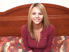 This is Ashlynn Brooke in her first porn video
