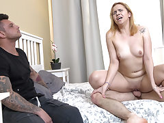 Sandy-Haired girlfriend drill for rent money